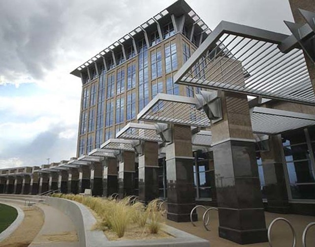 The North Las Vegas city hall building is shown in this file photo. (Las Vegas Review-Journal File)
