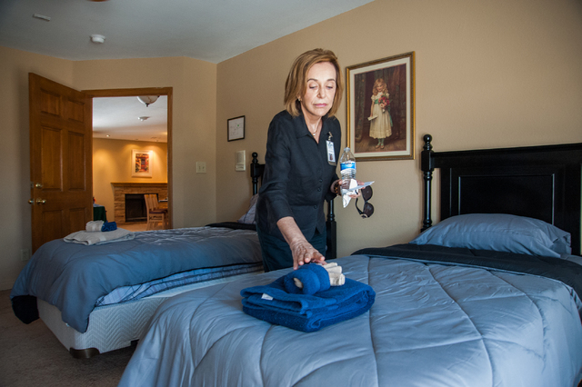 Central Recovery Treatment CEO Johanna O'Flaherty gives a tour of Las Vegas Recovery Center residential homes at 7525 West Gowan Road on Friday, April 11, 2014. The center features 20 new bedrooms ...