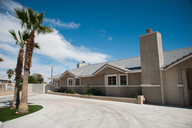 Las Vegas Recovery Center residential homes complex at 7525 West Gowan Road is shown Friday, April 11, 2014. The center features 20 new bedrooms and two houses -- one for females and one for males ...