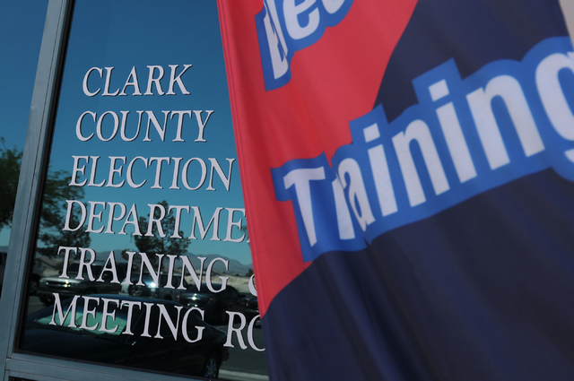 The Clark County Election Center Office in North Las Vegas is seen on Wednesday, May 21, 2014.  (Erik Verduzco/Las Vegas Review-Journal)