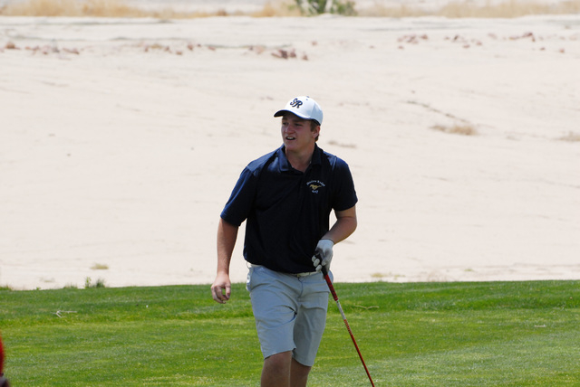Shadow Ridge's Ben Davis shot 73 on Thursday and finished in a three-way tie at 143. Davis was fifth on a scorecard playoff. (Horace Langford/Pahrump Valley Times)