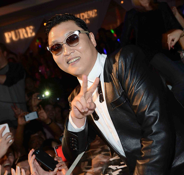 "Psy kicked off New Year's Eve ""Gangnam Style""  with a performance at Pure Nightclub on Dec. 29, 2012. (Denise Truscello/WireImage)"