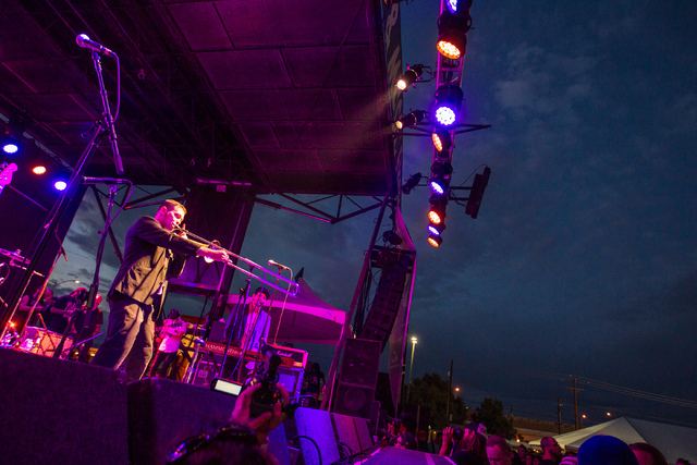 The Slackers perform at the Punk Rock Bowling music festival in downtown Las Vegas on Saturday, May 24, 2014. (Chase Stevens/Las Vegas Review-Journal)