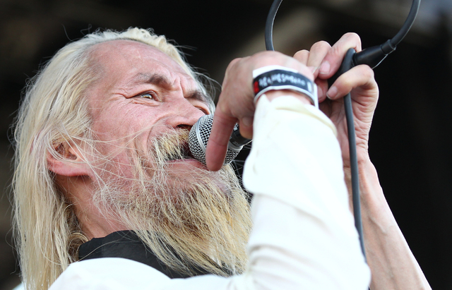 Ken Chinn of SNFU performs at the Punk Rock Bowling music festival in downtown Las Vegas on Sunday, May 25, 2014. (Chase Stevens/Las Vegas Review-Journal)