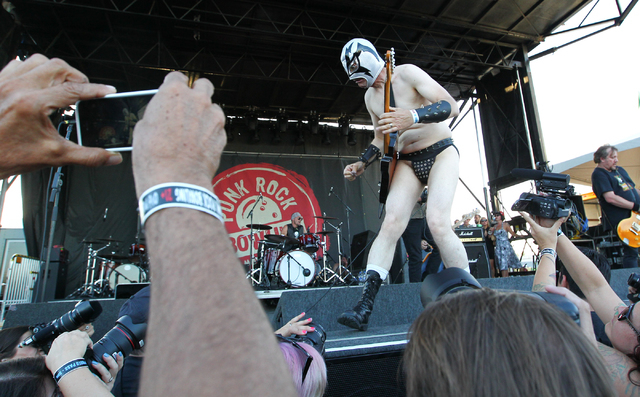 The Dwarves perform at the Punk Rock Bowling music festival in downtown Las Vegas on Sunday, May 25, 2014. (Chase Stevens/Las Vegas Review-Journal)