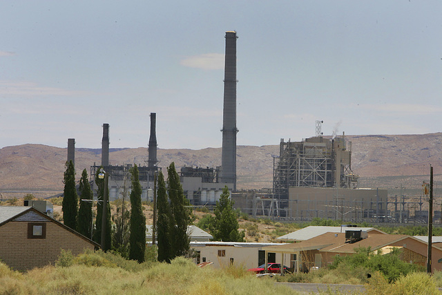 NV Energy south is proposing to close three of its four Reid Gardner coal-fired units generating electricity in Southern Nevada by the end of this year. The Reid Gardner power plant (background) a ...