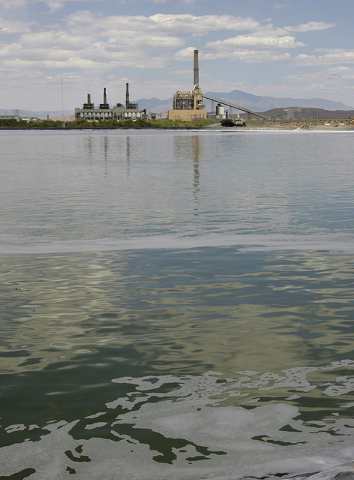 Evaporative ponds are shown at the Reid Gardner power plant in this June 15, 2006, file photo. NV Energy south is proposing to close three of its four Reid Gardner coal-fired units generating elec ...