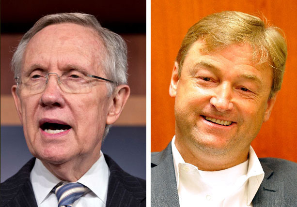 Sens. Harry Reid and Dean Heller are looking to insert wording into an upcoming federal highway bill that would designate an Interstate 11 corridor through Northern Nevada.  (File photo)