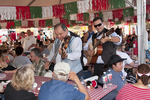Performers entertain at the San Gennaro Feast, which runs through Sunday (COURTESY)