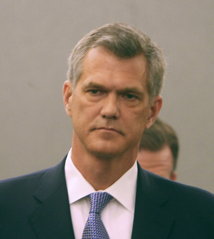 Former Sands China CEO Steve Jacobs appears in District Court on Tuesday, March 15, 2011, during his lawsuit hearing against Sands for alleged wrongful termination. (File, GARY THOMPSON/LAS VEGAS  ...