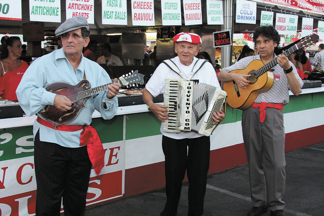 Performers serenade festival-goers during the 2010 San Gennaro Feast at the Silverton. The next San Gennaro Italian Festival is slated from 5 to 11 p.m. May 8, 5 p.m. to midnight May 9, noon to mi ...