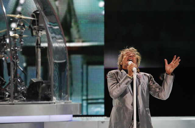 Rod Stewart performs in the Colosseum at Caesars Palace on Nov. 6, 2013. (Jason Bean/Las Vegas Review-Journal file)