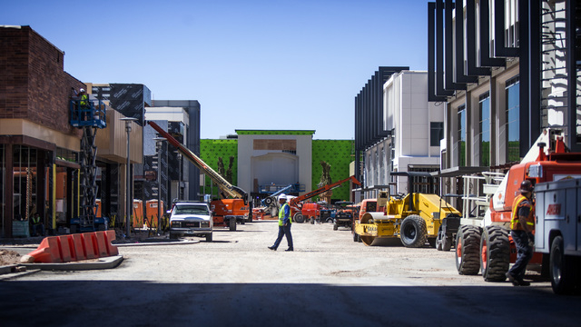 Construction as seen Thursday, May 15, 2014 from the One Summerlin building at   Downtown Summerlin at Sahara Avenue and I-215. The first phase of the development will include 1.6 million square f ...