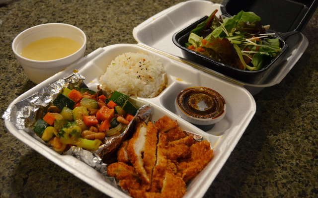 Kaizen offers bento box specials that can be packed to go with the hot kept hot and cold kept cold. A two-item dinner box is $12.95 and includes soup and salad. Three-item boxes are $14.95. Lunch  ...