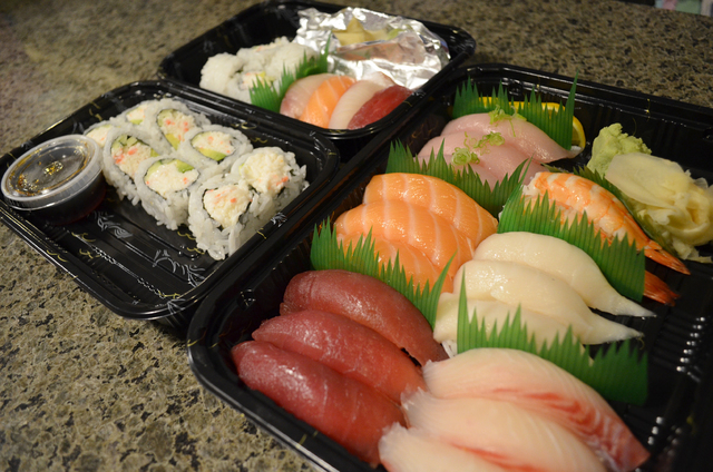Kaizen Fusion Roll & Sushi, 2760 Deer Springs Way, Suite 101, in Aliante, is best known for its all-you-can eat offerings, but sushi to go is also an option. (Ginger Meurer/Special to View)