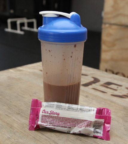 Examples of proper snacks to eat after a workout at CrossFit Mountain's Edge in Las Vegas on Tuesday, April 22, 2014. (Justin Yurkanin/Las Vegas Review-Journal)