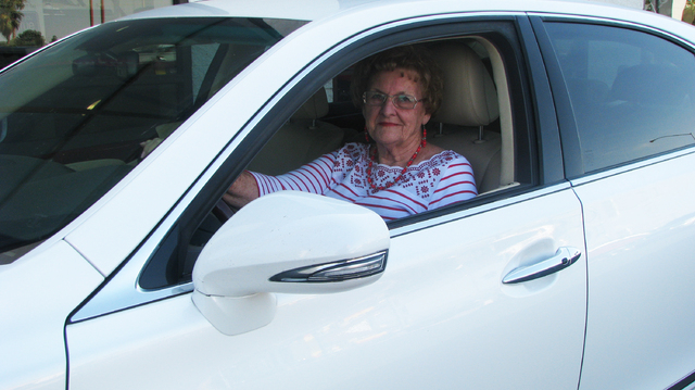 """Betty Gripentag still regularly drives by the stretch of road that she drove through the filming of """"Viva Las Vegas"""" more than fifty years ago.  (F. Andrew Taylor/Review-Journal)"""