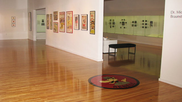 """The Barrick Museum at UNLV was formerly the gymnasium. During the filming of """"Viva Las Vegas"""" more than fifty years ago Ann-Margret and Elvis danced on this parquet floor.  (F. Andrew Ta ..."""