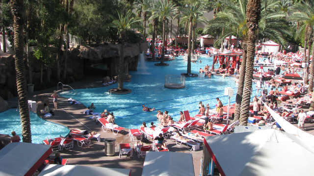 """The pool at The Flamingo was featured prominently in """"Viva Las Vegas"""" which was shot more than fifty years ago. That pool is long gone and today you couldn't hear Elvis and Ann Margret s ..."""