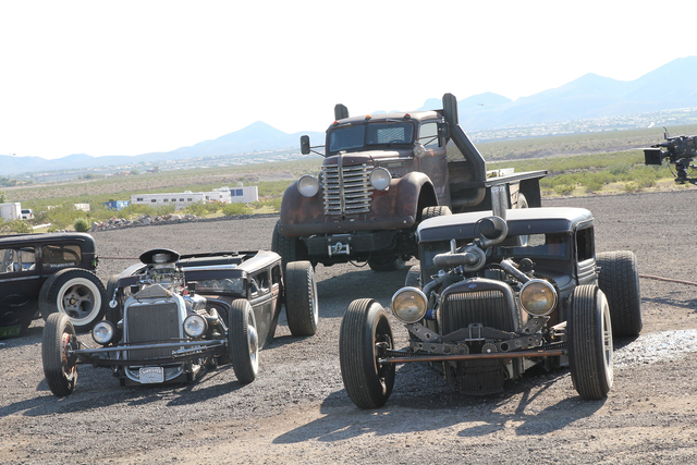 "Frankenstein, the Diamond T and 'Lil Joe are featured on the new reality show ""Vegas Rat Rods."" (Courtesy Discovery Channel)"
