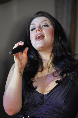 Singer Jane Monheit, who returns to The Smith Center's Cabaret Jazz this weekend, performs at a 2009 benefit in New York. AP wire of a courtesy photo. Photo credit: AP Photo/The Acting Company, St ...
