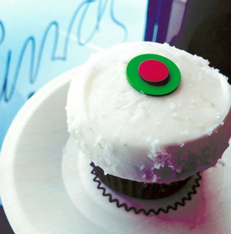 The Margarita cupcake from Sprinkles, The Linq, is a tequila-Key lime cake topped with Key lime frosting and a rim of fleur de sel. (Courtesy)