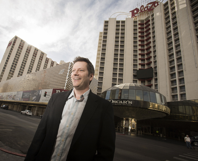 Wranglers President Billy Johnson as seen in front of the Plaza hotel/casino on Monday, Feb. 17, 2014.  The hockey team's agreement to build an ice rink at the Plaza has fallen through. (Jeff Sche ...