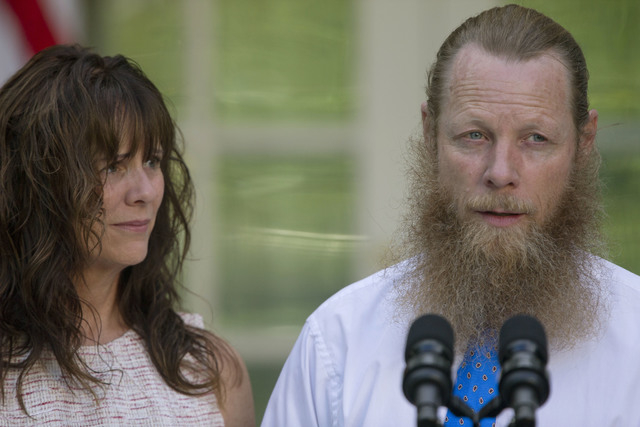 Jani Bergdahl, and Bob Bergdahl speak during a news conference with President Barack Obama in the Rose Garden of the White House in Washington on Saturday, May 31, 2014 about the release of their  ...