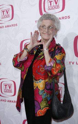 """Ann B. Davis arrives at the 5th Annual TV Land Awards in Santa Monica, Calif., on  April 14, 2007. The Emmy-winning actress, who played the housekeeper on """"The Brady Bunch,"""" died at a San Antonio  ..."""