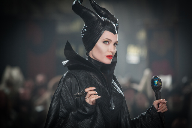 """This photo released by Disney shows Angelina Jolie in a scene from the film, """"Maleficent."""" (AP Photo/Disney, Frank Connor)"""