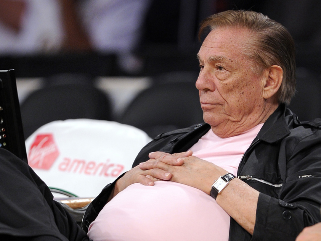 Los Angeles Clippers team owner Donald Sterling watches his team play in Los Angeles.  (AP Photo/Mark J. Terrill, File)