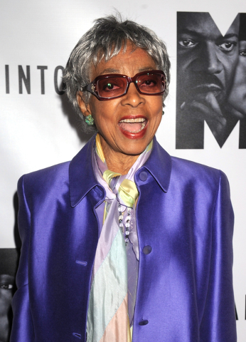 "Ruby Dee attends the Broadway premiere of "" The Mountaintop"" in New York on Oct. 13, 2011. Dee, an acclaimed actor and civil rights activist whose versatile career spanned stage, radio television  ..."