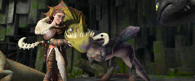 """This image released by DreamWorks Animation shows the character Valka, voiced by Cate Blanchett, in a scene from """"How To Train Your Dragon 2."""" (AP Photo/DreamWorks Animation)"""