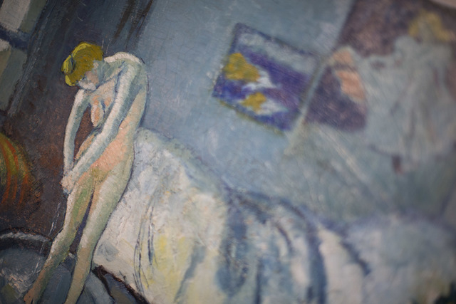 """The Blue Room,"" one of Pablo Picasso's first masterpieces at The Phillips Collection, on Tuesday, June 10, 2014, in Washington. Scientists and art experts have found a hidden painting b ..."