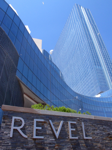 This May 30, 2014 photo shows the exterior of Revel Casino Hotel in Atlantic City N.J. The $2.4 billion casino filed for bankruptcy on June 19, 2014, the second time in as many years it sought ban ...