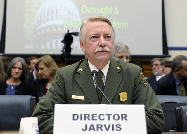 National Park Service Director Jonathan Jarvis is shown on Capitol Hill in Washington on Oct. 16, 2013. The National Park Service is taking steps to ban drones from 84 million acres of public land ...