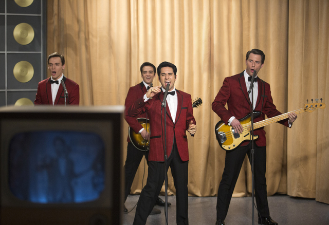 This photo released by Warner Bros. Pictures shows, from left, Erich Bergen as Bob Gaudio, Vincent Piazza as Tommy DeVito, John Lloyd Young as Frankie Valli and Michael Lomenda as Nick Massi in Wa ...