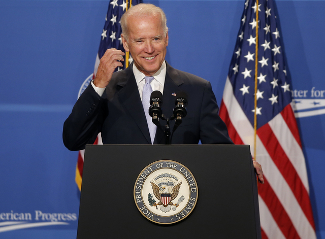 Vice President Joe Biden speaks at The White House Summit on Working Families, Monday, June 23, 2014, in Washington. The gathering, organized by the White House, Labor Department, and the Center f ...