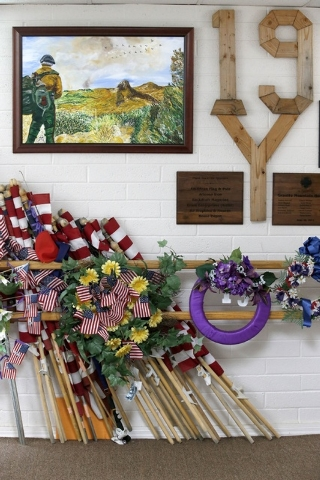 Just some of the thousands of artifacts saved for the Tribute Fence Preservation Project honoring the 19 Granite Mountain Hotshots who were killed nearly a year ago fighting an Arizona wildfire on ...