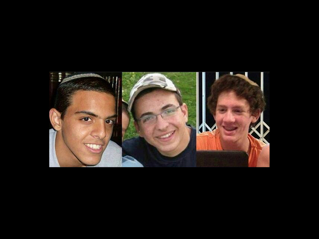 This undated image released by the Israel Defense Forces shows a combination of three photos of Israeli teens Eyal Yifrah, 19, Gilad Shaar, 16, and Naftali Fraenkel, a 16-year-old with dual Israel ...