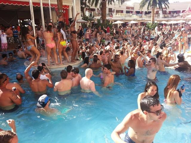 Encore Beach Club (Doug Elfman/Las Vegas Review-Journal)