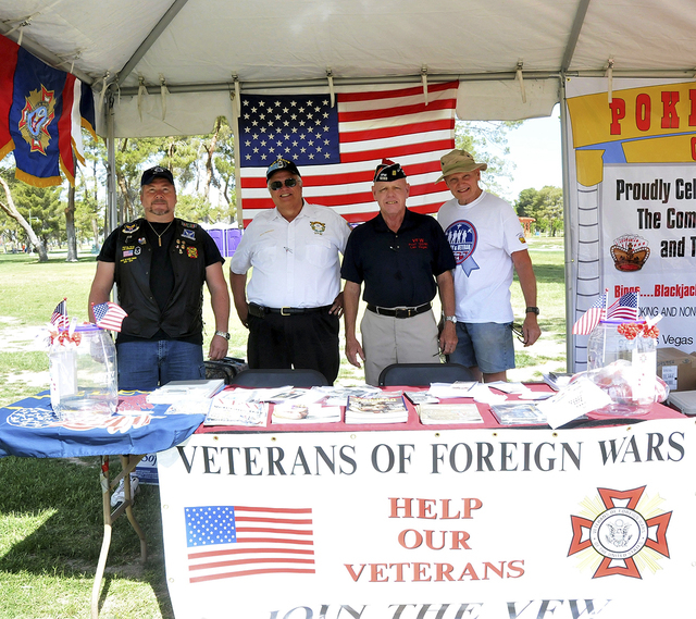 Vendors show off their wares during the inaugural Nellis, Creech and Military Veterans Appreciation Day at Craig Ranch Park in North Las Vegas Saturday, May 17, 2014. (Special to View)