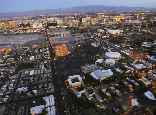 The University of Nevada campus as seen Friday, June 15, 2012. The site of a proposed stadium is changing to avoid problems with flight patterns at McCarran International Airport, according to sta ...