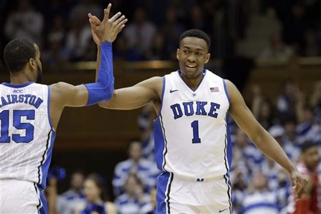 Jabari Parker, the 6-foot-8-inch forward from Duke, was the No. 2 pick of the NBA Draft on Thursday. (AP Photo/Gerry Broome file)