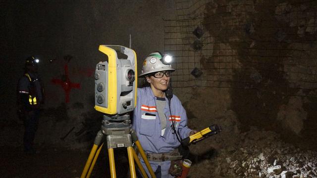 Holley Samper, underground surveyor. (Courtesy Barrick Gold of North America)