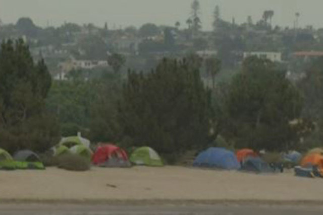 In a screen grab from video, a Boy Scout camp is shown Monday in San Diego. Police in San Diego are reporting a boy had shot himself in the head Monday morning at the camp on Fiesta Island. (NBC S ...