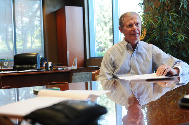 Lawrence Canarelli, president at American West, is interviewed about his company at his office in Las Vegas Thursday, June 5, 2014. (Erik Verduzco/Las Vegas Review-Journal)
