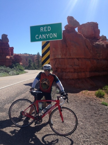 Alan Snel at the start of Red Canyon on Utah State Road 12. (LAS VEGAS REVIEW-JOURNAL)
