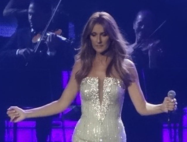 Celine Dion appears lost in thought on Tuesday, the night before it was announced her husband, Rene Angelil, was stepping down as her manager. (Norm Clarke/Las Vegas Review-Journal)