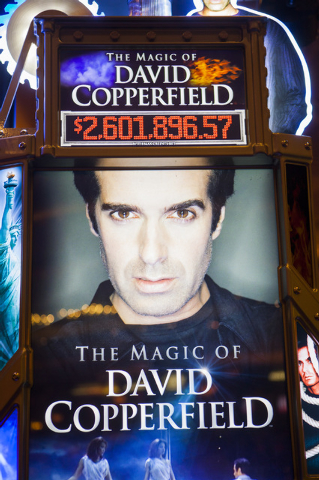The David Copperfield slot machine as seen during unveiling at MGM Grand on Thursday, June 26, 2014. The progressive slot machine is Bally Technologies' latest line of themes games. (Jeff Scheid/L ...